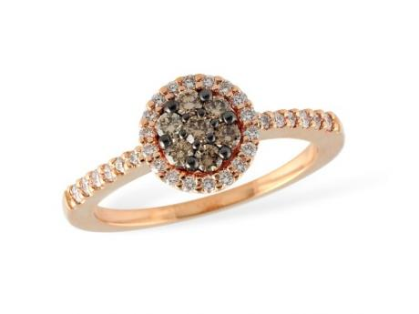forged cushion cut e hand diamond ring index rings jewelry pink brown halo fancy yellowish